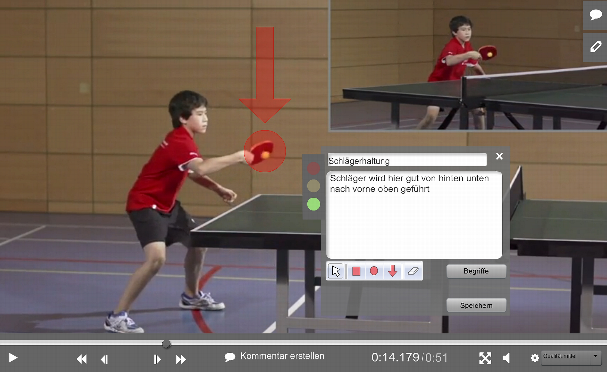 Screenshot Online-Umgebung (edubreak®SPORTCAMPUS)